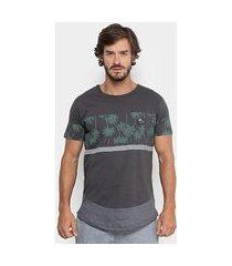 camiseta longline hd slim especial masculina