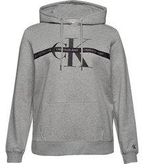 plus monogram hoodie hoodie grå calvin klein jeans