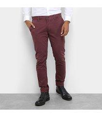 calça sarja jab chino stretch tinturada skinny paul masculina