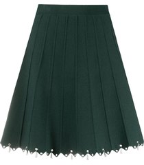 sandro paris bead-embellished a-line skirt - green