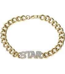 bracciale lady message acciaio dorato destiny e cristalli per donna