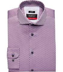 awearness kenneth cole awear-tech burgundy check slim fit dress shirt