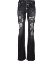 jeans bootcut (nero) - rainbow
