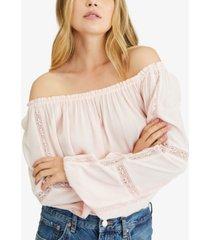 sanctuary say so lace-inset blouse