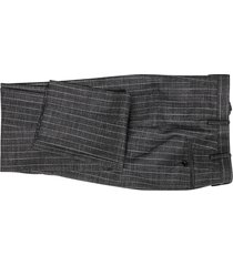 grey cashmere-virgin wool-silk blend two-piece suit