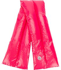 moncler padded scarf - pink