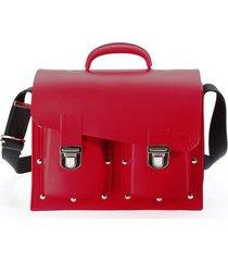 maleta veneta impermeable monocolor rojo