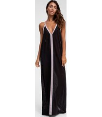 pitusa inca maxi sun dress black