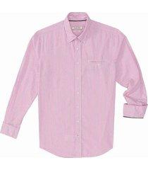 camisa casual manga larga rayas silueta slim fit para hombre 02340