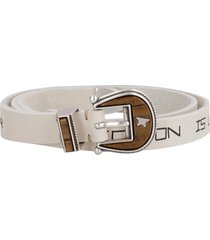 golden goose rodeo printed leather belt