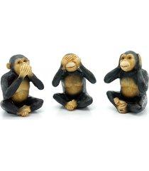 jogo kasa ideia com 3 macaquinhos decorativos