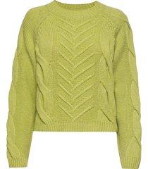 sille blouse gebreide trui groen storm & marie