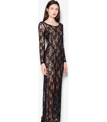 sukienka koronkowa z długim rękawem