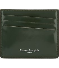 maison margiela men's credit card case - military green