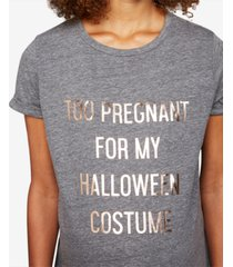 a pea in the pod too pregnant for my halloween costume maternity tee