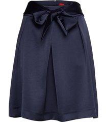 remoni-1 knälång kjol blå hugo