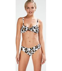 hunkemöller animal bandeau-bikiniöverdel vit