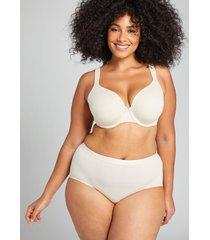 lane bryant women's cotton full brief panty 34/36 beige