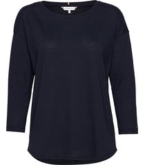 brianna round-nk top 3/4 slv t-shirts & tops long-sleeved blauw tommy hilfiger