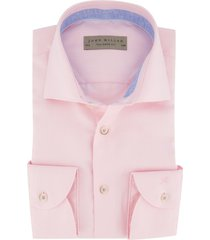 roze overhemd john miller tailored fit