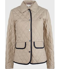 parka tommy hilfiger beige - calce regular