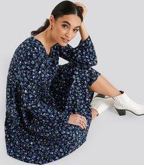 trendyol patterned maxi dress - blue