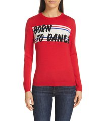 women's ba & sh latine pullover, size small - red
