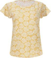 camiseta margaritas color amarillo, talla l