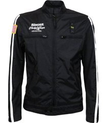 usa men's biker jacket with white stripes
