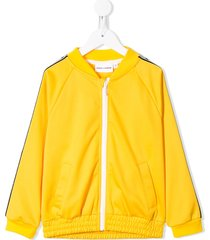 mini rodini panda bomber jacket - yellow