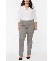 nydj women's plus size marilyn straight pants in ponte knit