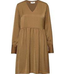 foster dress knälång klänning beige modström