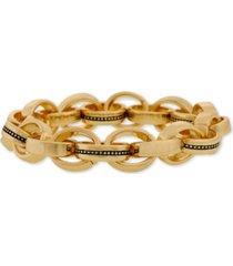 laundry by shelli segal gold-tone multi-ring link stretch bracelet