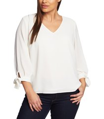 plus size women's cece tie sleeve blouse