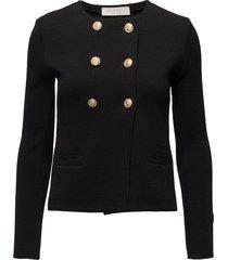 kelly jacket boucle gebreide trui zwart busnel