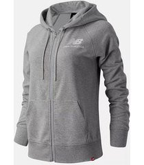 new balance vest women essentials fz hoodie atlantic grey