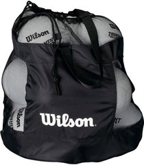 bolso para balones deportivo de malla con correa wilson