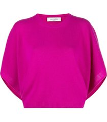 valentino kimono-style knitted jumper - pink