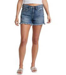 silver jeans co. distressed not your boyfriend's denim shorts
