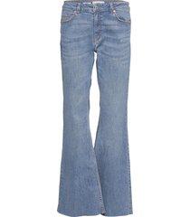 flare jeans utsvängda blå mango