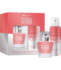kit phytoderm miss rose deo colonia 75ml + desodorante 90ml feminino