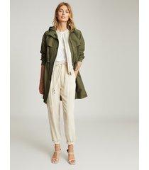 reiss cora - lightweight parka jacket in khaki, womens, size 12