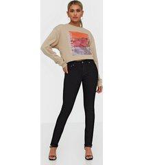 nudie jeans skinny lin org black black skinny