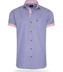 cappuccino italia short sleeve blouse navy striped