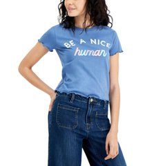 love tribe juniors' be a nice human graphic t-shirt