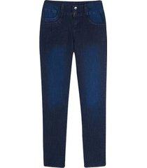 jean mujer clasico con pinzas color azul, talla 6