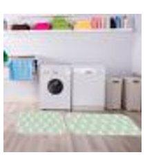 kit tapete lavanderia coelhinhos único 40x80