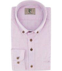r2 shirt roze geruit