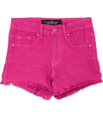 john richmond fuchsia denim shorts