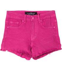john richmond fuchsia denim shorts